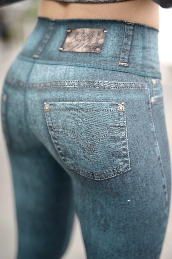Close up Rolamoca Jeans legging rear view