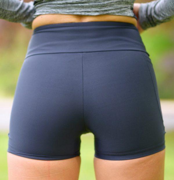 Fitgirl wearing Rolamoca Shorts rear
