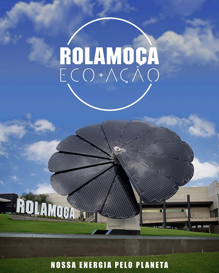 Front Rolamoca factory with Flower Solar Power