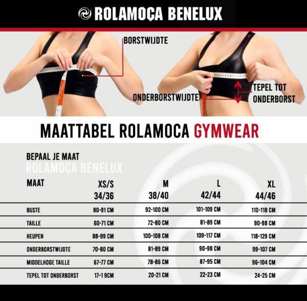Rolamoca Benelux Maat Tabel Sportsbra's
