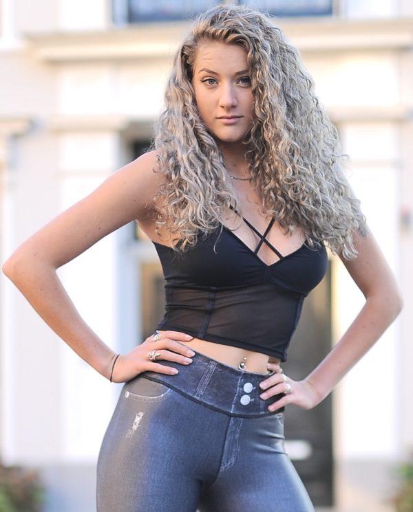 Fitgirl wearing black sport top